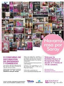 CARTEL - Campaña Navarra Rosa por SARAY