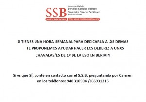 Programa apoyo escolar SSB